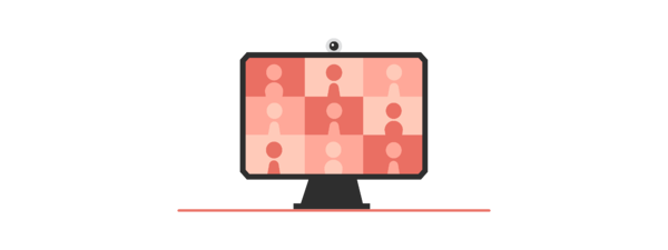 Illustration of an Online meeting